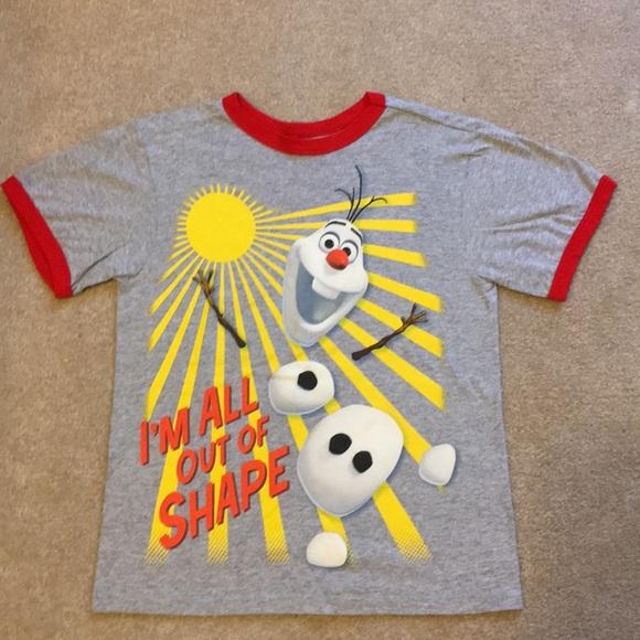 Toddler boy DISNEY FROZEN OLAF SNOWMAN BLUE SHIRT NWT 4t 5t